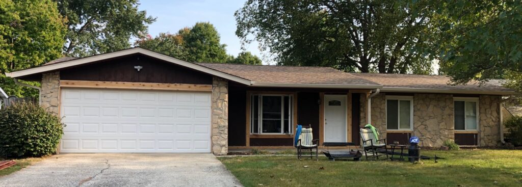 Before Exterior Paint Job on House